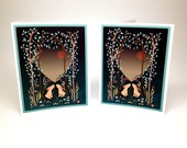 Woodland Rabbits Valentine Cards - set of 2 cards