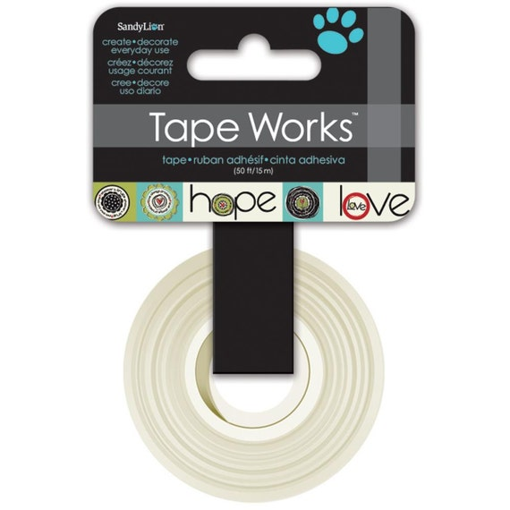 Hope faith and love washi tape by tape works 50 feet by 1 2 for Tape works decorative tape