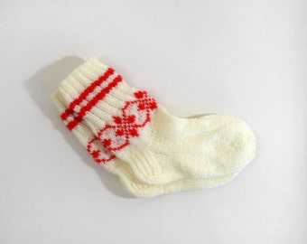 Knitted Socks for Teens - White, Size Very Small
