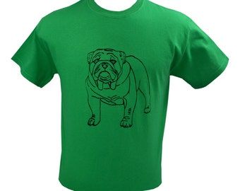 English Bulldog Dog T-Shirt Screen Printed Men's S M L XL 2XL
