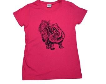 Pomeranian Screen Printed Women's T-Shirt S M L XL 2XL Dog Shirt