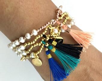 Tassel Freshwater Pearl Bracelet 14kt Gold Filled
