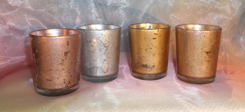 rose gold silver mercury votive candle holders parties. Black Bedroom Furniture Sets. Home Design Ideas