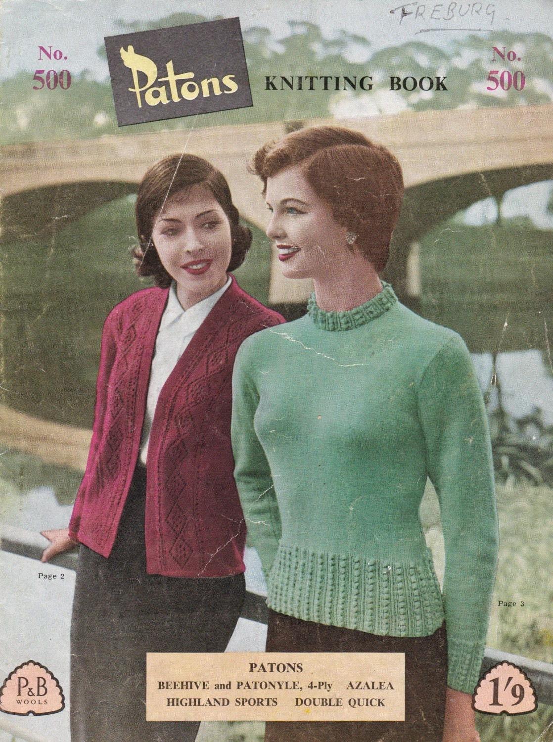 Patons Knitting Pattern For Women/Ladies No 500 (Vintage 1950s ...