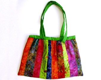 Patchwork Bag pattern,  PDF bag pattern, easy bag pattern, simple PDF bag pattern Patchwork Pattern Batik Bag pattern