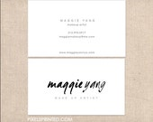 makeup artist business cards - simple business cards - full color both sides - FREE UPS ground shipping