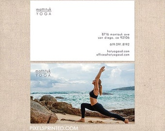 Yoga business card | Etsy