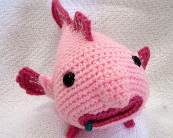 Small amigurumi blobfish - made to order