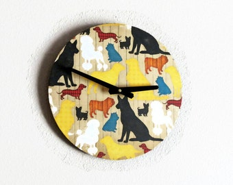 Dog Clock, Decor and Housewares, Wood, Home and Living, Home Decor, Dog Lovers Decor