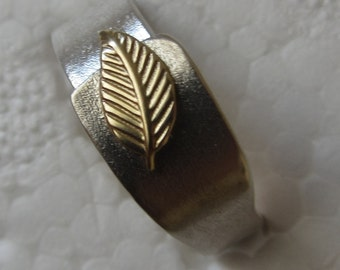 Handmade Textured Ring - 18k Gold Leaf Ring - Made in Israel - Made to order