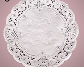 """8"""" French White  Paper Doilies 50 Doilies"""