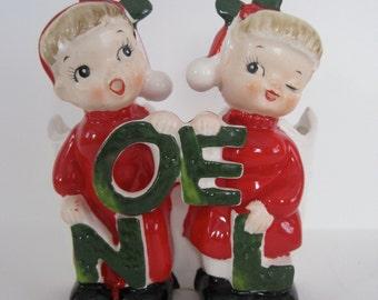 Vintage HF Co. NOEL Christmas Planter - made in Japan