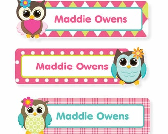 Rectangles (3 Sizes), Owls Girl