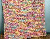 7.5 x 7.5  Square Hand Made Pot Holder, Multi Colored Table Mat, Table Protecter, Kitchen Table Mat