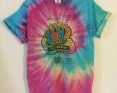 Vintage tie dye 'jump rope for heart' tee