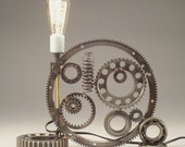 Bearings - Sophisticated Steampunk/Gearhead Series Lamps -  Edison Bulb, Gears and Bearings join forces.