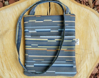 Crossbody Purse, Fabric Sling Bag, Hipster Bag, Gray