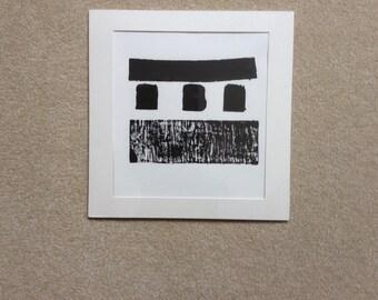 Black & White Relief Print