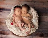 Heart Halo with Lil Cupid Heart Bow and Arrow Set - Perfect Valentines Day or Boy or Girl Newborn Photo Prop