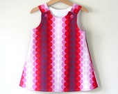 Baby girls A line pinafore jumper Christmas dress made to order