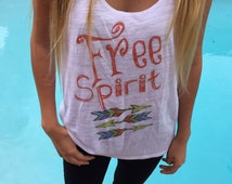 Free Spirit womens relaxed fit Racer back tank top