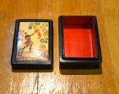Vintage Russian hand painted box