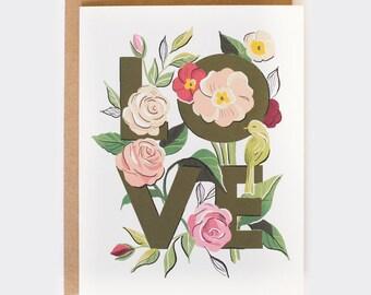Botanical LOVE Card