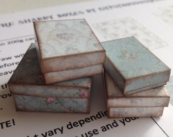 1:12 Blue shabby miniature boxes INSTANT DOWNLOAD