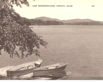 Vintage Postcard...Lake Pennesseewassee, Norway, Maine...Unused..no.2841