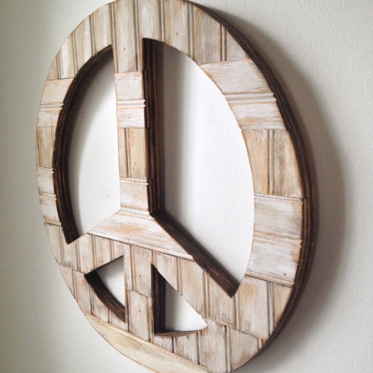 Rustic Wall Decor Peace Sign