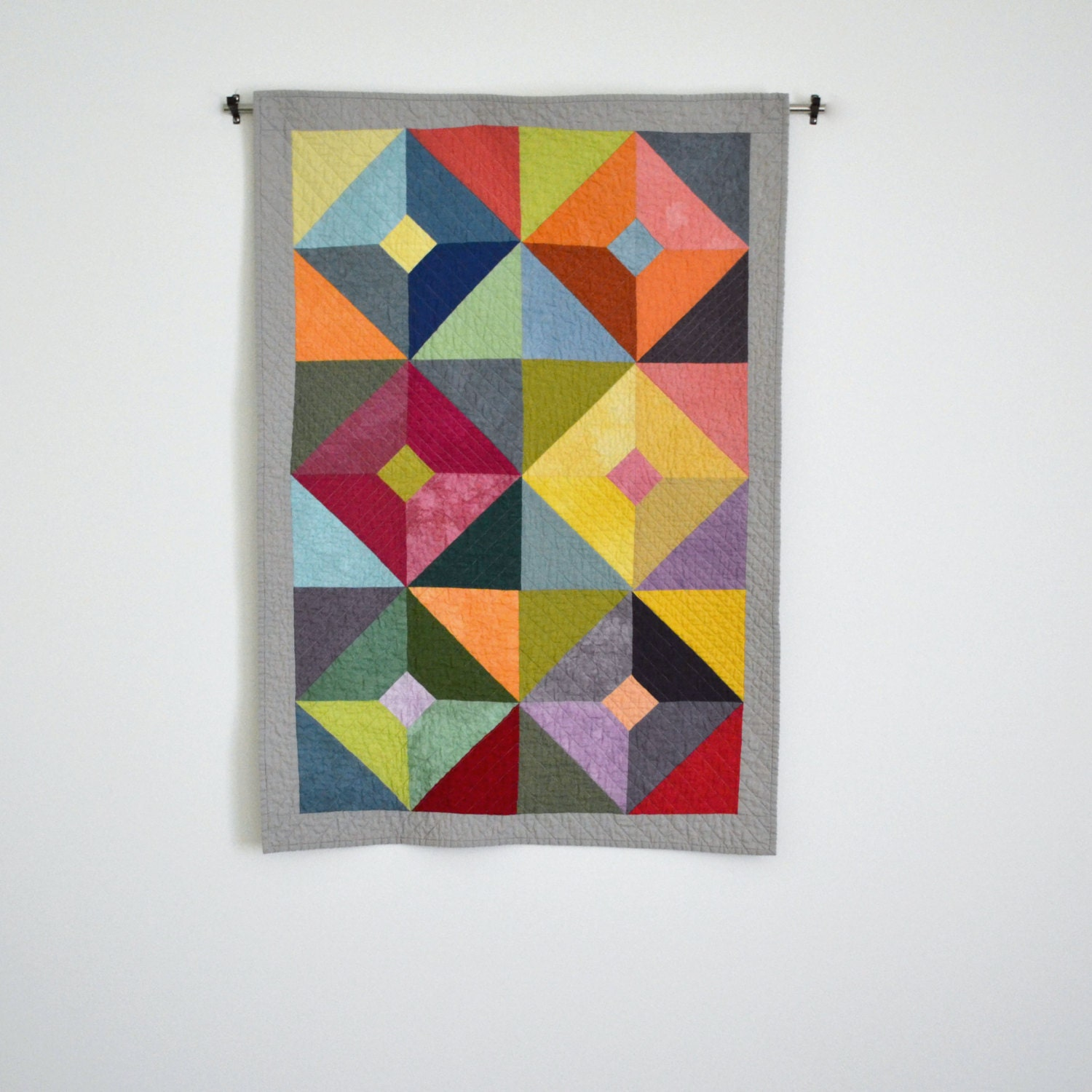 Baby Quilt Modern Baby Quilt Geometric Baby Bedding Quilted