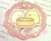 Sumikko Gurashi Cat & Polar Bear Resin Necklace