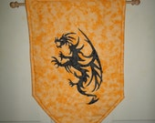 Dragon Banner, Wall hanging, Coat of Arms, Fabric Banner, Heraldry