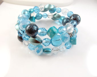 Light blue wrap bracelet