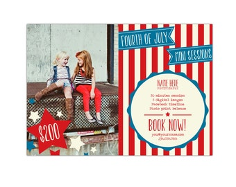 INSTANT DOWNLOAD - 4th of July Marketing board - Photoshop template - E865
