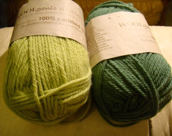 Sale -100% organic merino wool from Australia - Woolganic - only 8.99 USD instead of 12.99USD per skein