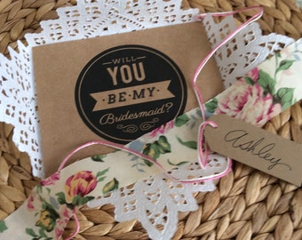 Will You Be My Bridesmaid - Paper Lace Doily - Bridesmaid Invitation Reveal - Maid of Honor - Wedding Invitation -Ask Bridesmaid Card