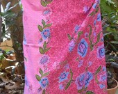 woman's sarong light pink batik pattern WI3