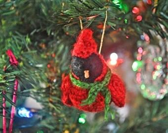 Christmas Cardinal Crochet Christmas Ornament