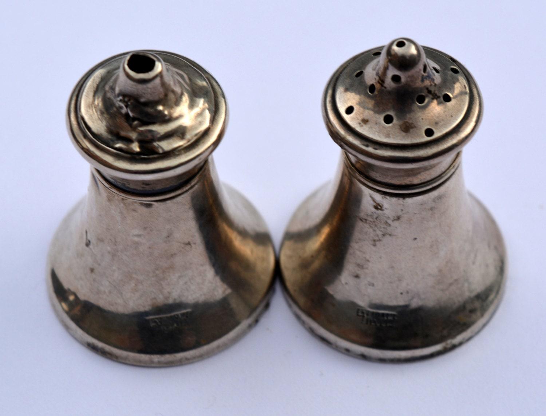 Victorian Salt Pepper Pots Sterling Silver Salt By