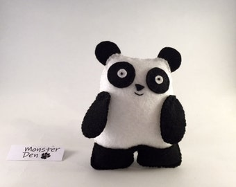 Chao the Panda - Cute, felt handmade plush toy!