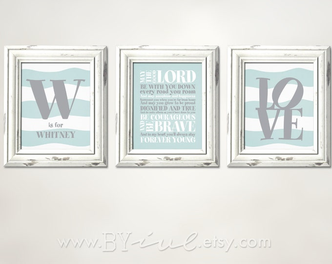 Forever Young Lyrics, Rod Stewart song, Custom Initial Name, Love word, Nursery Stripes Theme, Download Immediately