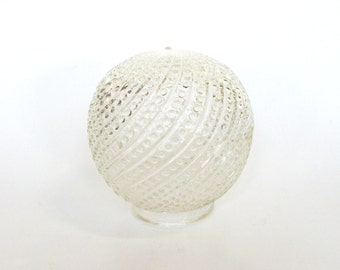 Clear Glass Swirl Hobnail Light Lamp Shade Globe Ball Style, Replacement Hallway Ceiling Sconce Bathroom Light Fixture