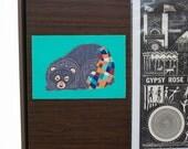 Sleepy Black Bear Removable Decal / Bear Sticker / Removable Wallpaper / Original Illustration / Vinyl Decal / Bumper Sticker