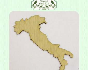 Italy  (Small) Wood Cut Out -  Laser Cut