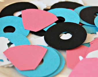 50s Theme Birthday Party Confetti, Sock Hop Party Decorations