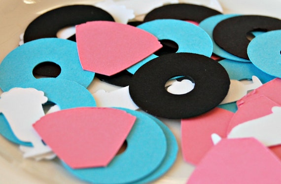 Like this item? - 50s Theme Birthday Party Confetti Sock Hop Party Decorations