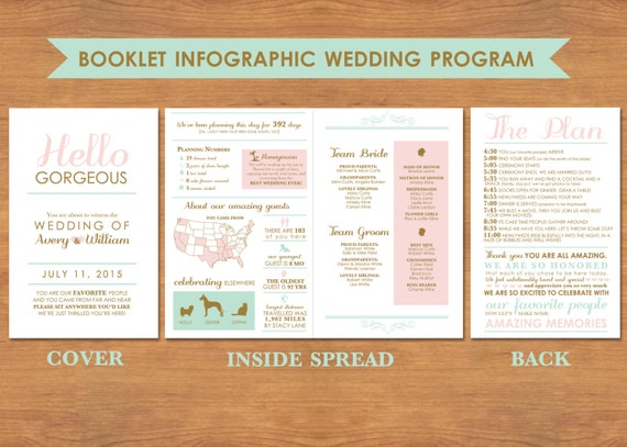 Infographic Booklet Wedding Program by BisforBrown on Etsy