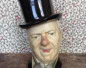 W.C. Fields whiskey bottle head