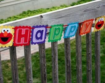 Elmo Banner, Elmo Happy Birthday Banner, Elmo Birthday Party, Elmo First Birthday, Elmo Decorations, Elmo Decor